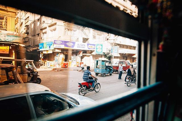 The most coveted square on the Streets of Karachi Bingo board is 6 humans on one motorcycle. That or one white person driving. // #pakistan #karachi #niharinihariwelikestoparty