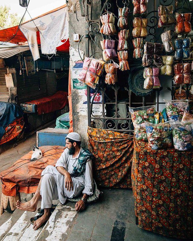 Man + Cat, Empress Market // #igpakistan #pakistan #karachi #nuestro_sendero #niharinihariwelikestoparty
