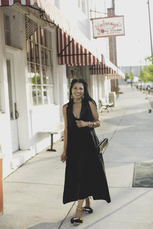 Black dress and longline tuxedo vest1.jpg
