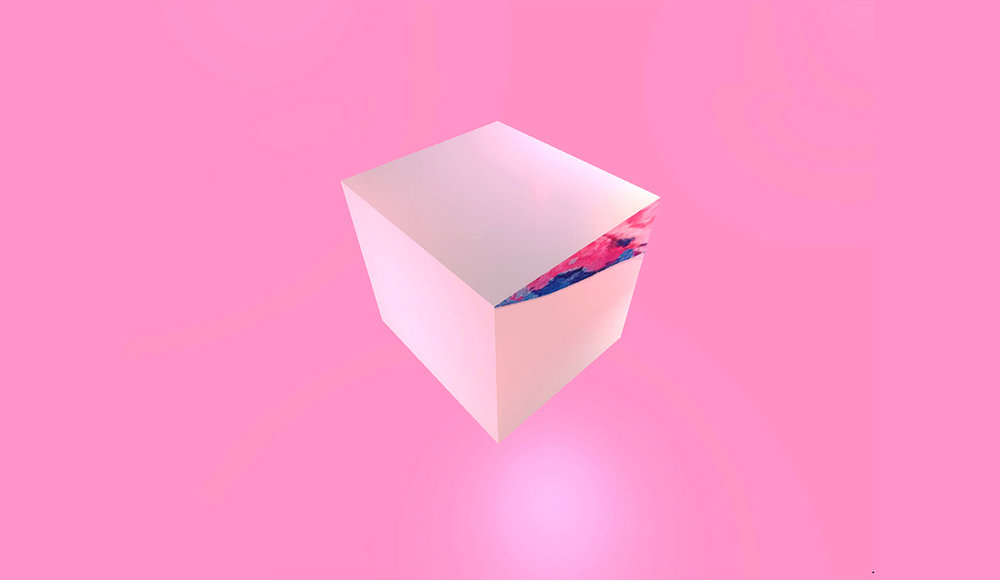 Flirtatious Game: 3D Blender, Collage Texture