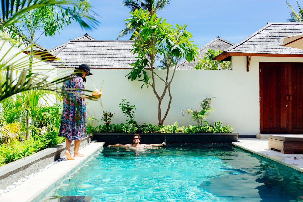 honeymoon pool gili T indonesia