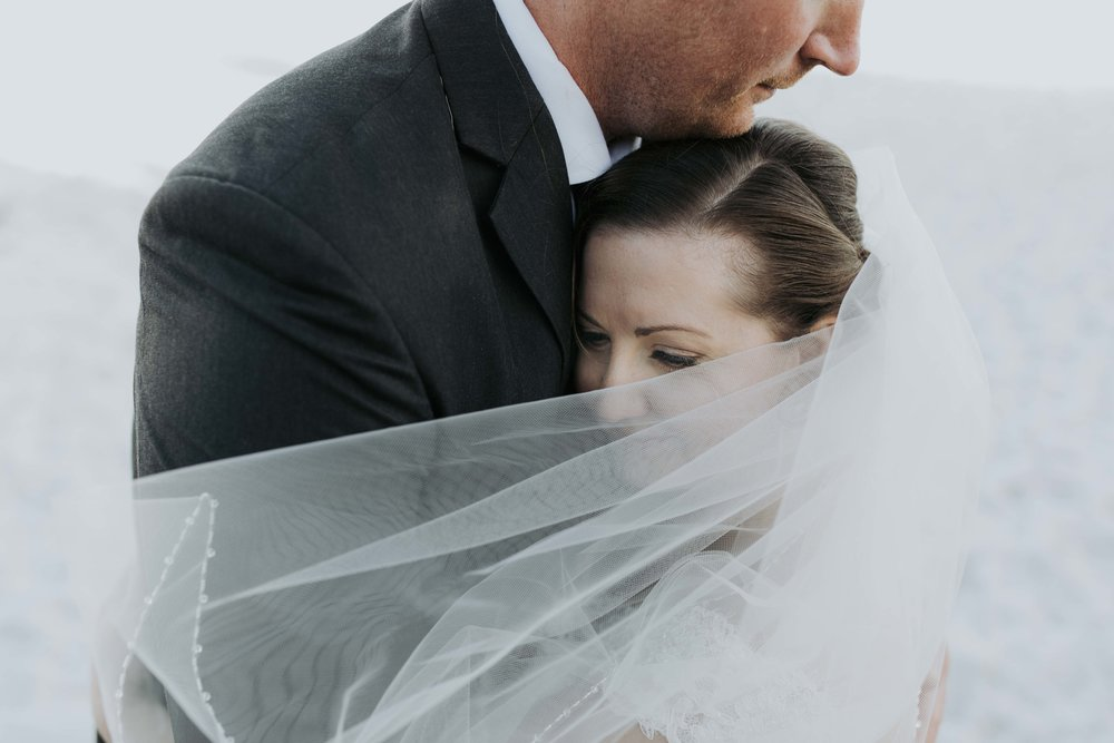 windy veil love at Albany Wedding