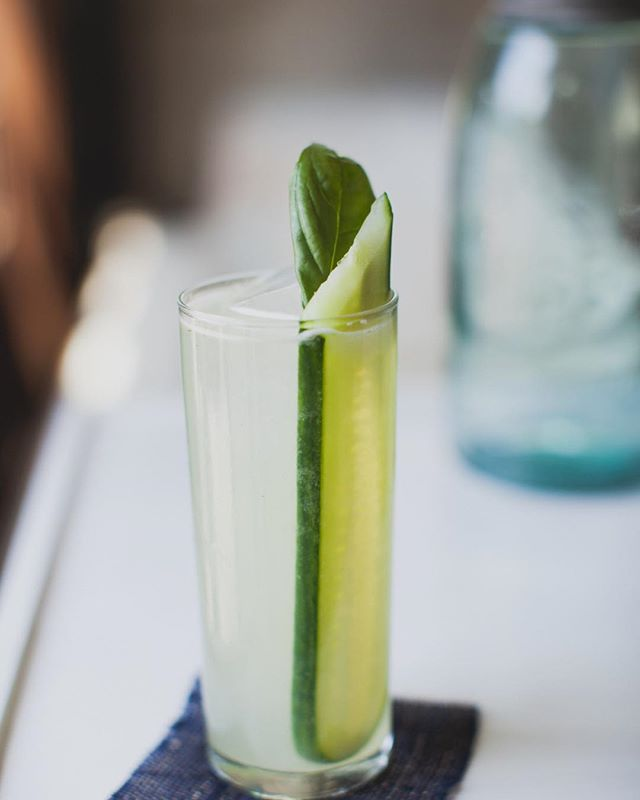 Sunny day reminding us of spring and outdoor party season. #craftcocktails #cucumberandgin
