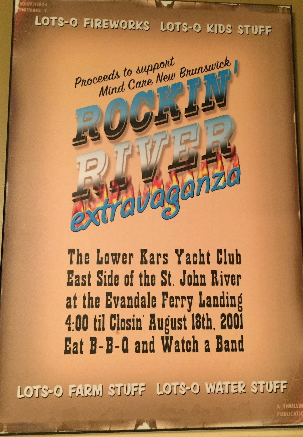 - We went to the drawing board and drafted a plan,worked late hours, and got the farmer's tan.The day came about and the party was grand,we partied all night to that Rockin' River band.