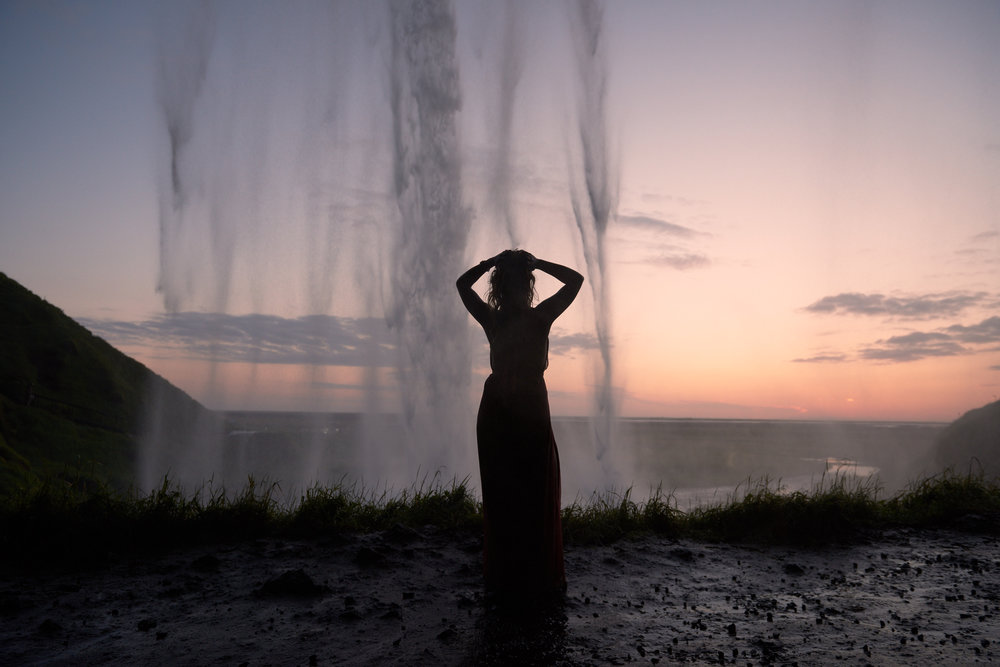 Seljalandsfoss at sunset