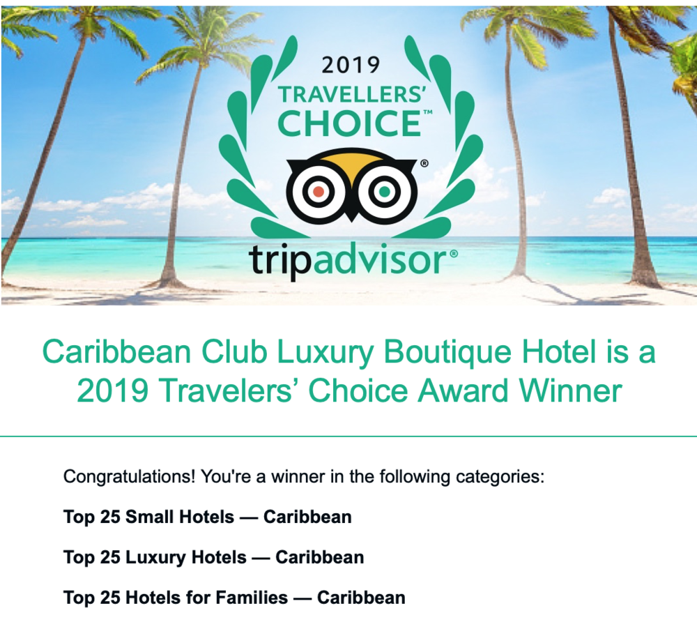 The Caribbean Club has won some impressive awards this 2019.