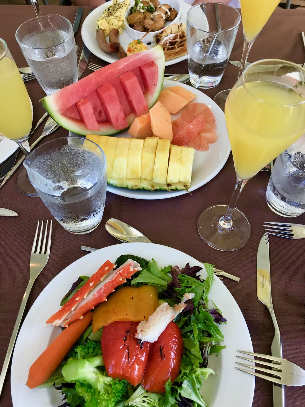 The Caribbean Club's famous brunch