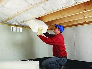 Under floor insulation is installed when there is a crawl space under the floor. It helps to create a total thermal envelope by minimizing heat or cold coming through the floor into the home.