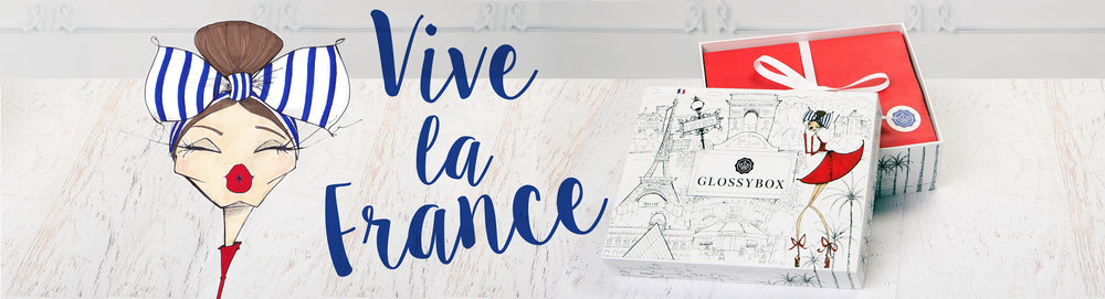 This  Global Vive La France special design box campaign  lounged in the US on October 2015 instead of July due to operation issues, but that didn't stop the success of it. This French box  came to life in collaboration with Illustrator   Jamie Lee Readin   and was filled with créme de la créme of French pharmacy brands across the country. It was distribute to an estimate of 45,000 women around the US and was sold out globaly.
