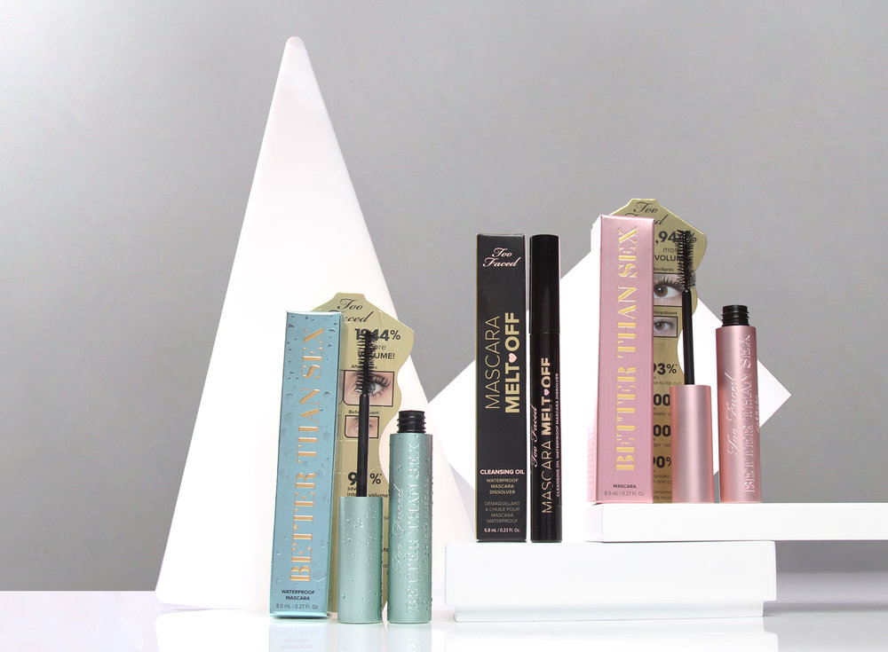 UGC social contest giveaway  of a year supply of  Too Faced best selling mascaras  and Mascara Melt Off.