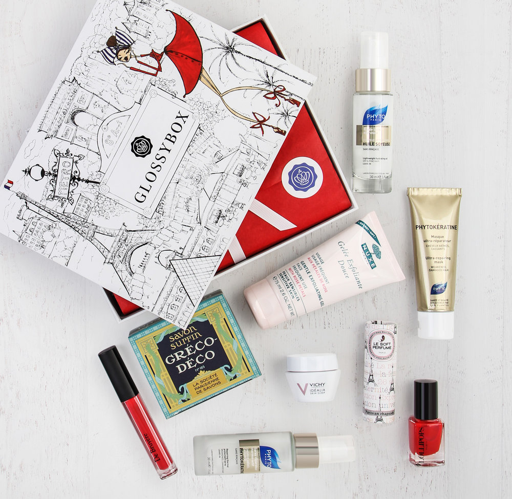 Box composition  of which each woman across the US, got a selection of 5 beauty product from the image depicted.