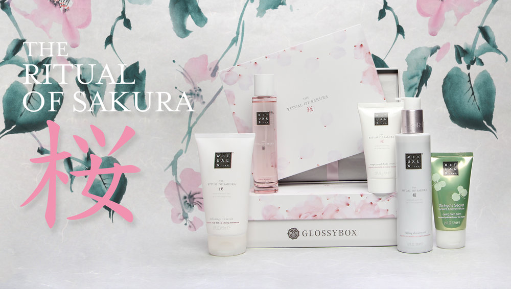 This limited edition   Rituals of Sakura   co-branded box launched Spring 2016. For centuries, the Japanese have celebrated the annual flowering of the Cherry Blossom, or Sakura. Inspired by this tradition, The Ritual of Sakura collection blends the sweetness of Cherry Blossom with nourishing Organic Rice Milk, to make each day feel like a new beginning.