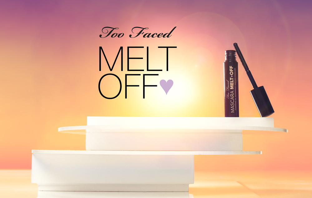 The  Sun-Kissed  campaign of August 2016 featured Too Faced's Mascara Melt Off. A cleansing oil waterproof mascara dissolver.