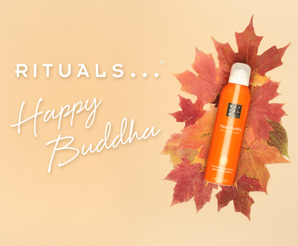 The   Elements of Fall   campaign launched October 2017 and included the   Rituals Happy Buddha     shower gel. It was about all things fall colors and filled with products for the seasonal transition.