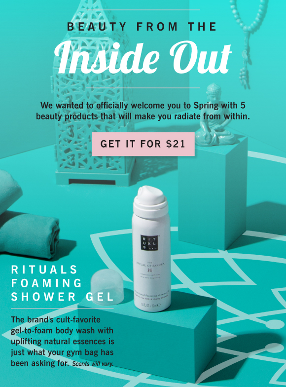 First  email blast  leaking the   Rituals   Foaming Shower Gel, which resulted in 200 sales.