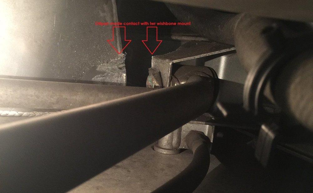 oil pan damage