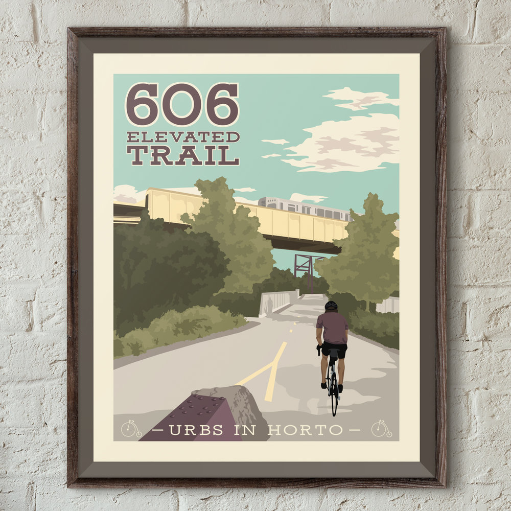 """606 Elevated Trail Print - """"Urbs In Horto"""" Series"""