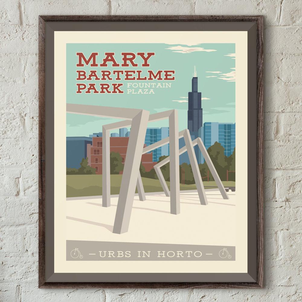 "Mary Bartelme Park Print - ""Urbs In Horto"" Series"