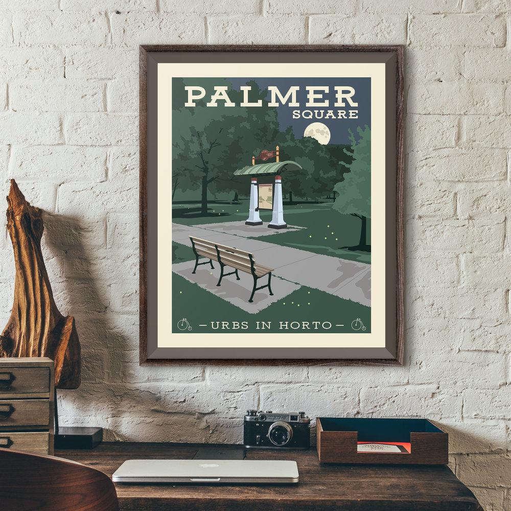 "Palmer Square Print - ""Urbs In Horto"" Series"