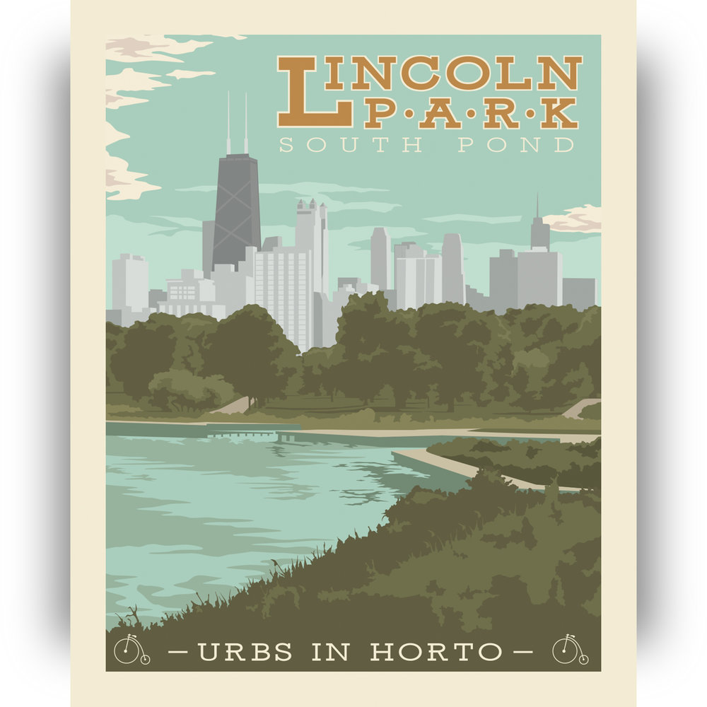 """Lincoln Park Print - """"Urbs In Horto"""" Series"""