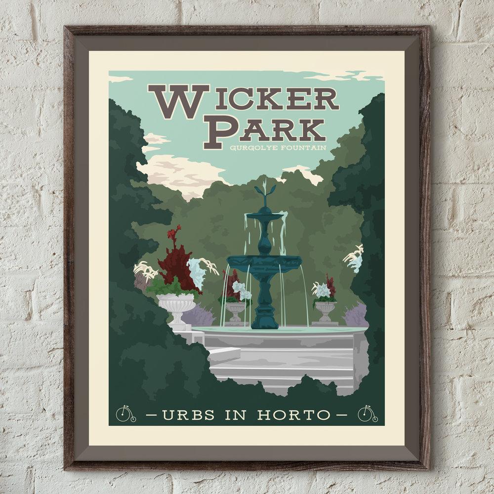 "Wicker Park Print - ""Urbs In Horto"" Series"
