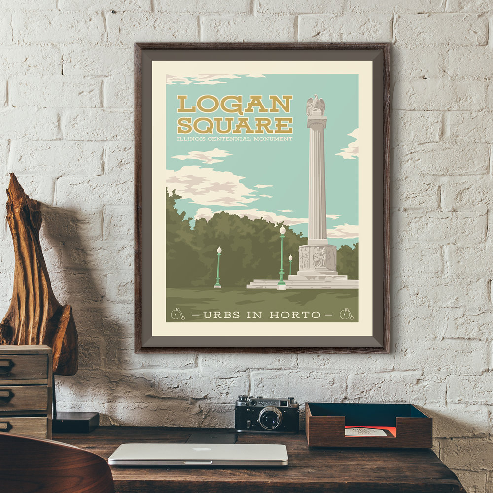 "Logan Square Park Print - ""Urbs In Horto"" Series"