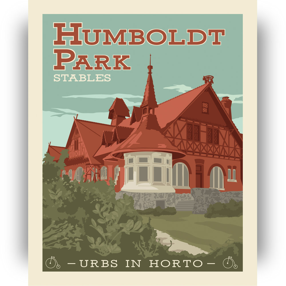 "Humboldt Park Print 2 - ""Urbs In Horto"" Series"