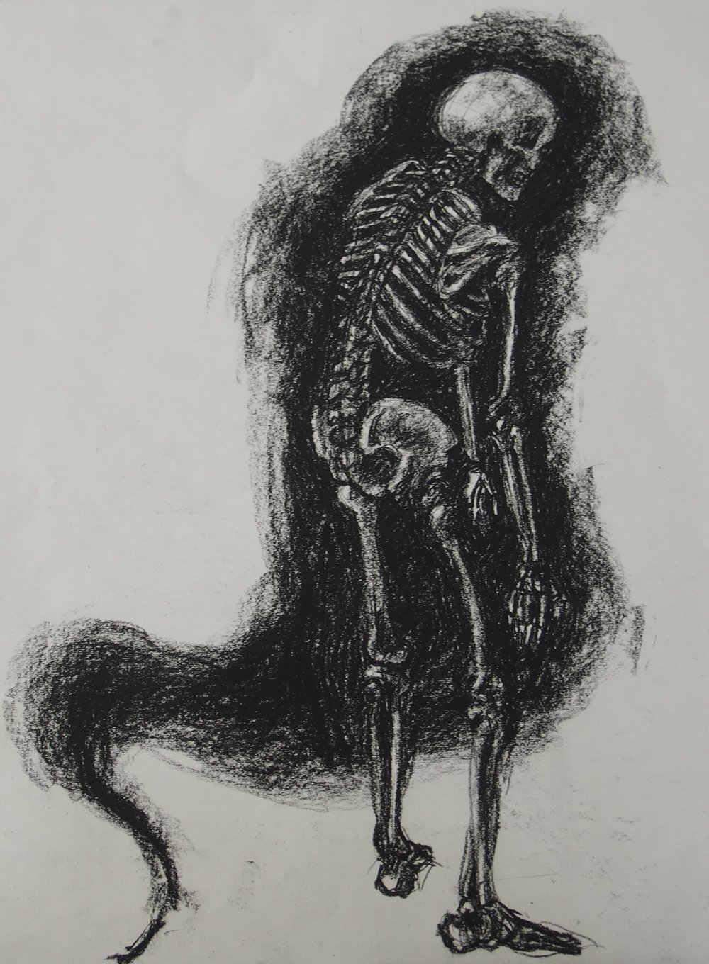 ANATOMICAL STUDY, Charcoal, 2018