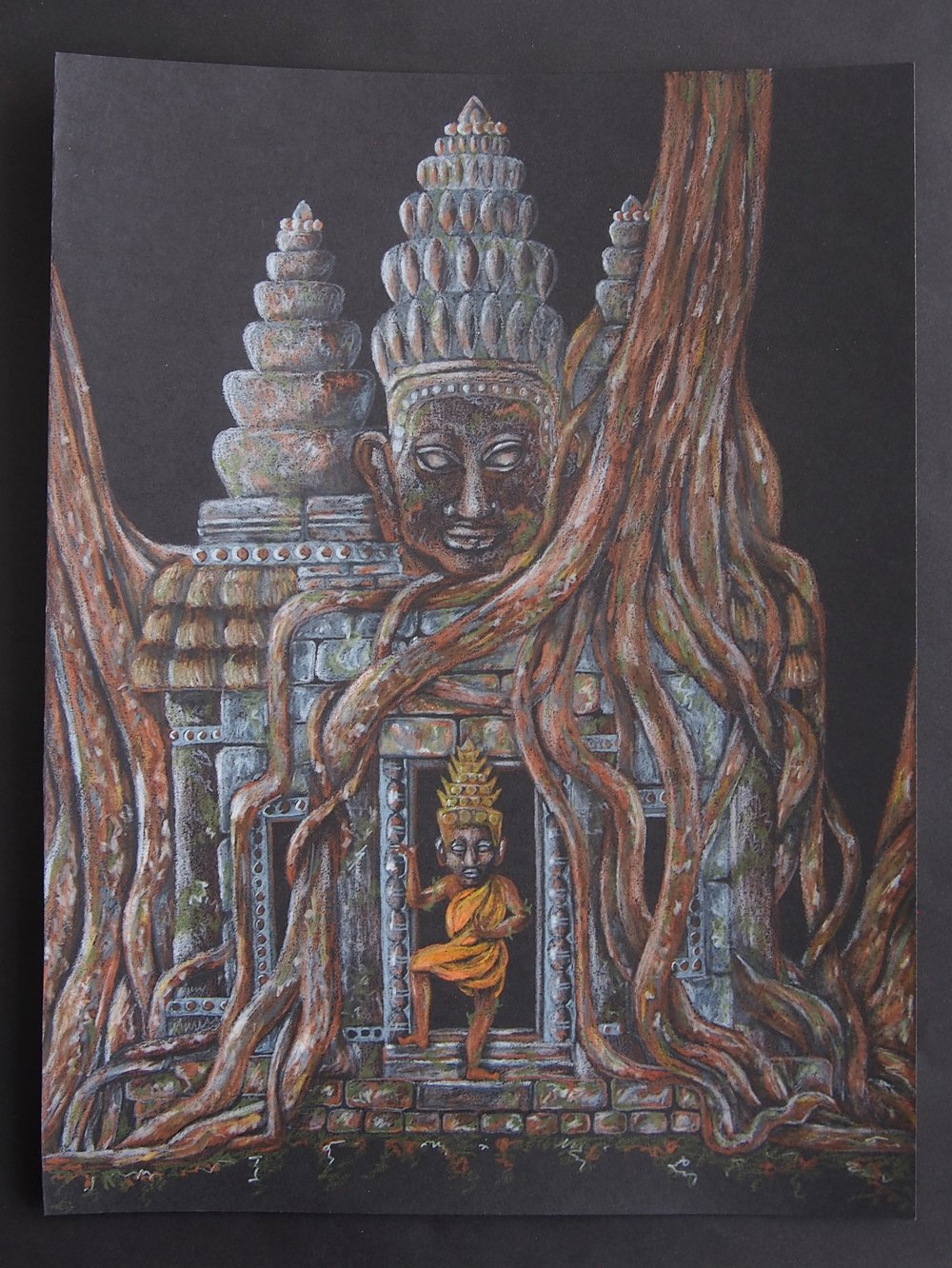 ANGKOR WAT, Colored pencil, 2017