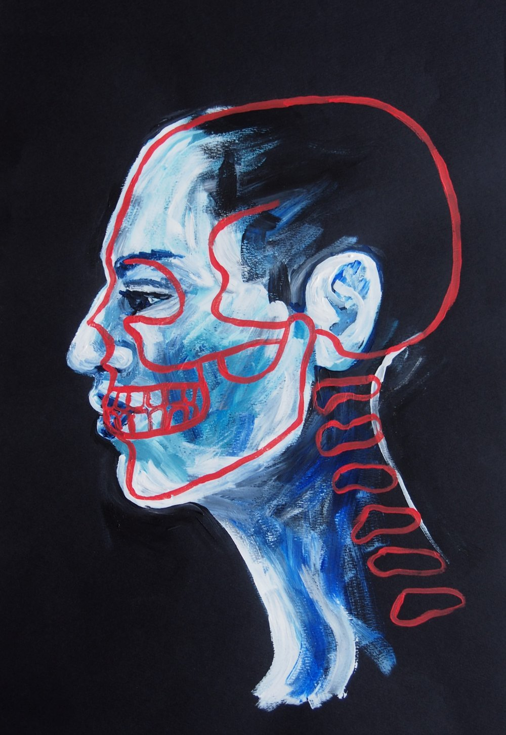 SELF PORTRAIT, Acrylic, 2018