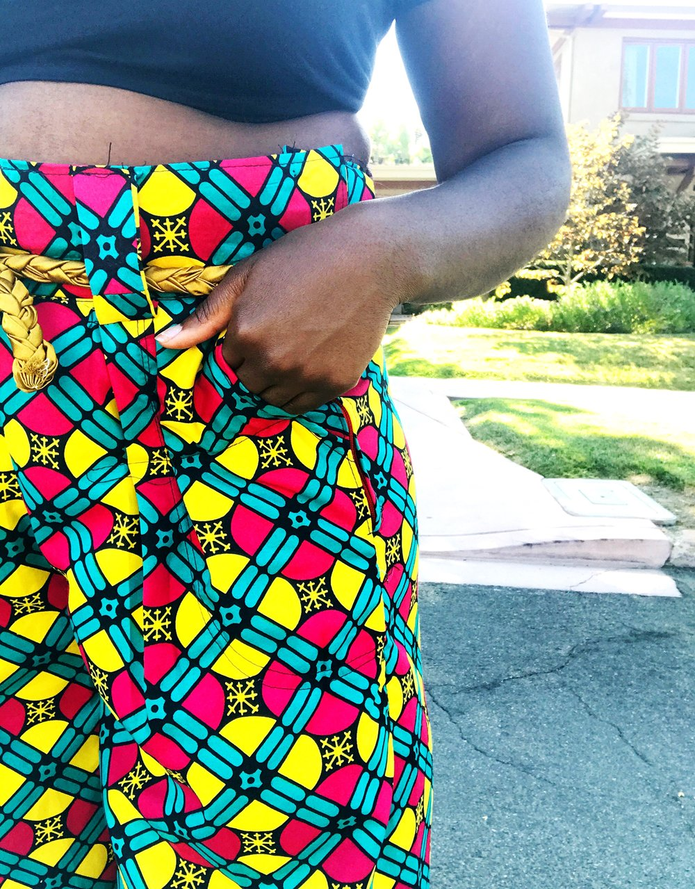 Closeup of ankara pants