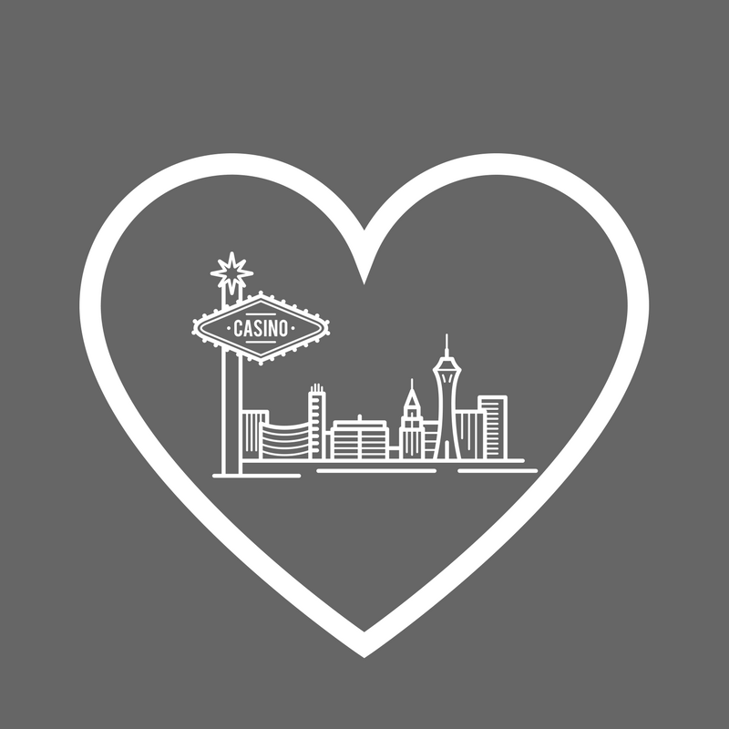Pray for Las Vegas heart and skyline design