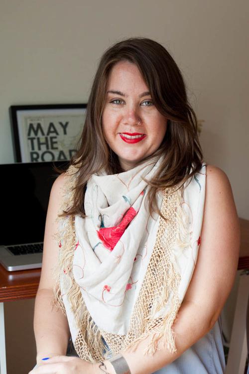 Emily Belyea, Designer. Portrait taken for her website.