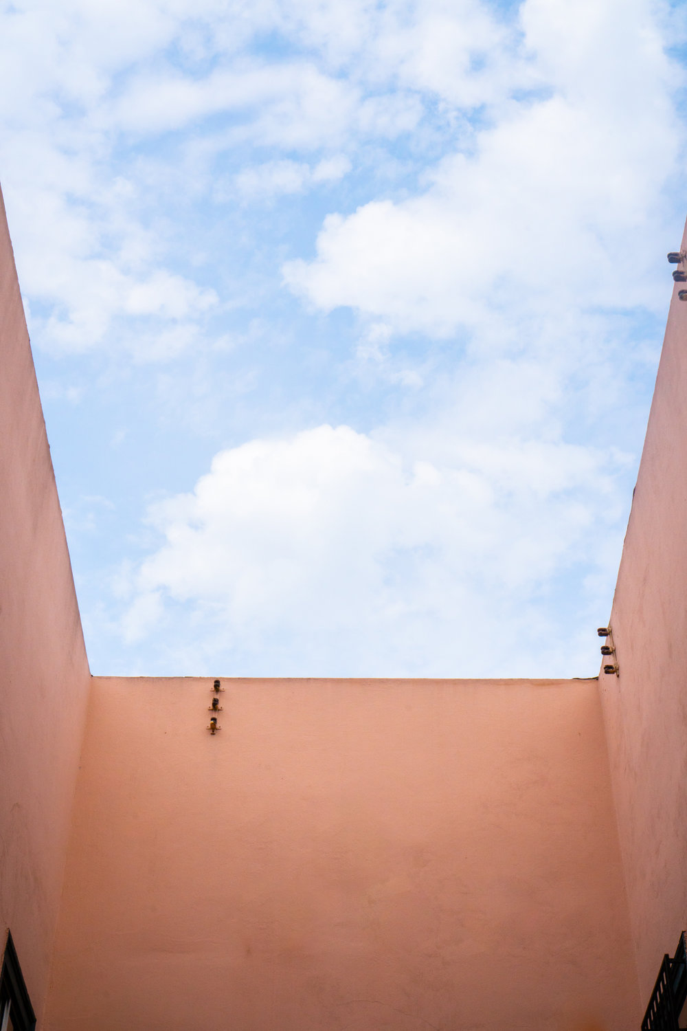 Minimal Architecture with Blue Skies by Sarah Natsumi Moore