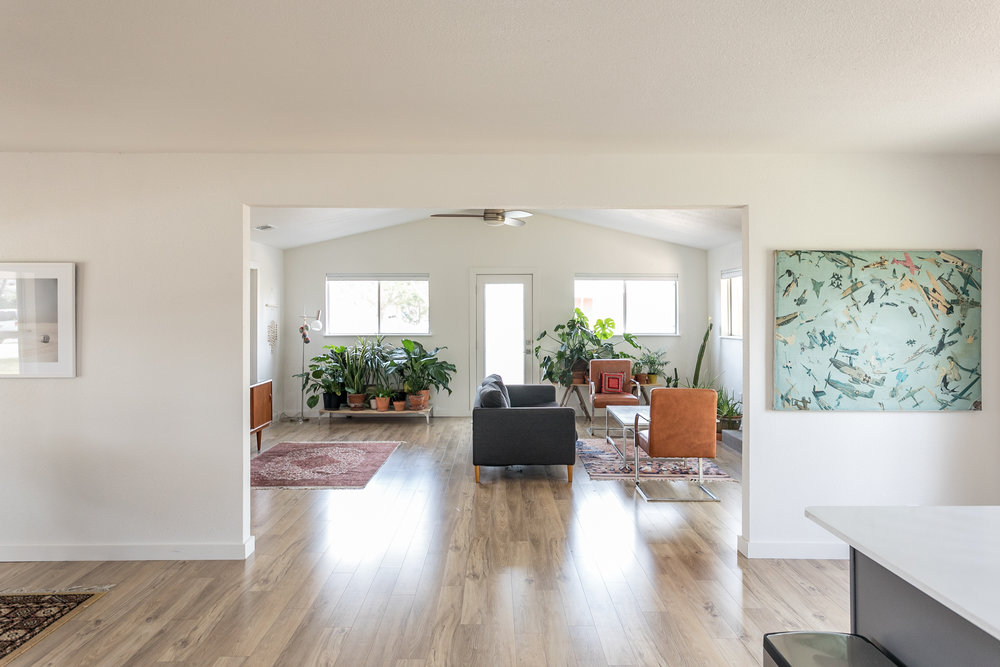 Becca Baughman's living room, photographed by Sarah Natsumi Moore