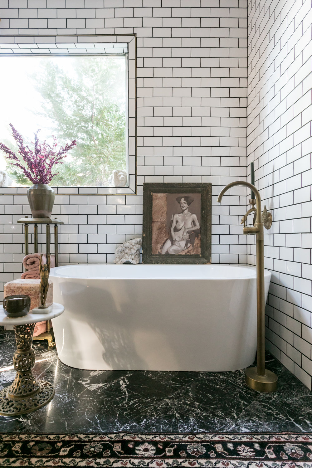 cocollected Home Tour Sarah Natsumi Moore bathroom
