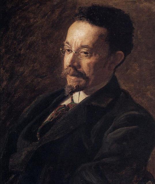 "Thomas Eakins Portrait of Henry O. Tanner, 1900 oil on canvas 24⅛"" × 20¼"" The Hyde Collection"