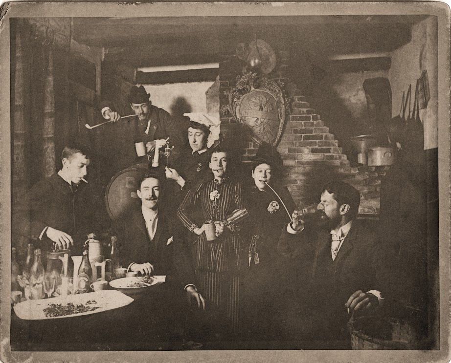 Some early members of the Providence Art Club, circa 1890.