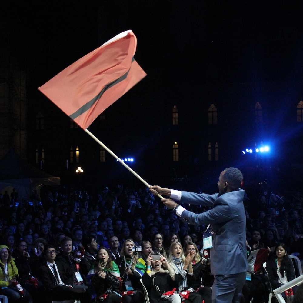 One Young World - The refugee flag was also officially recognized at the One Young World, under the eyes of the Prime Minister Justin Trudeau, Kofi Annan and Muhammad Yunus.