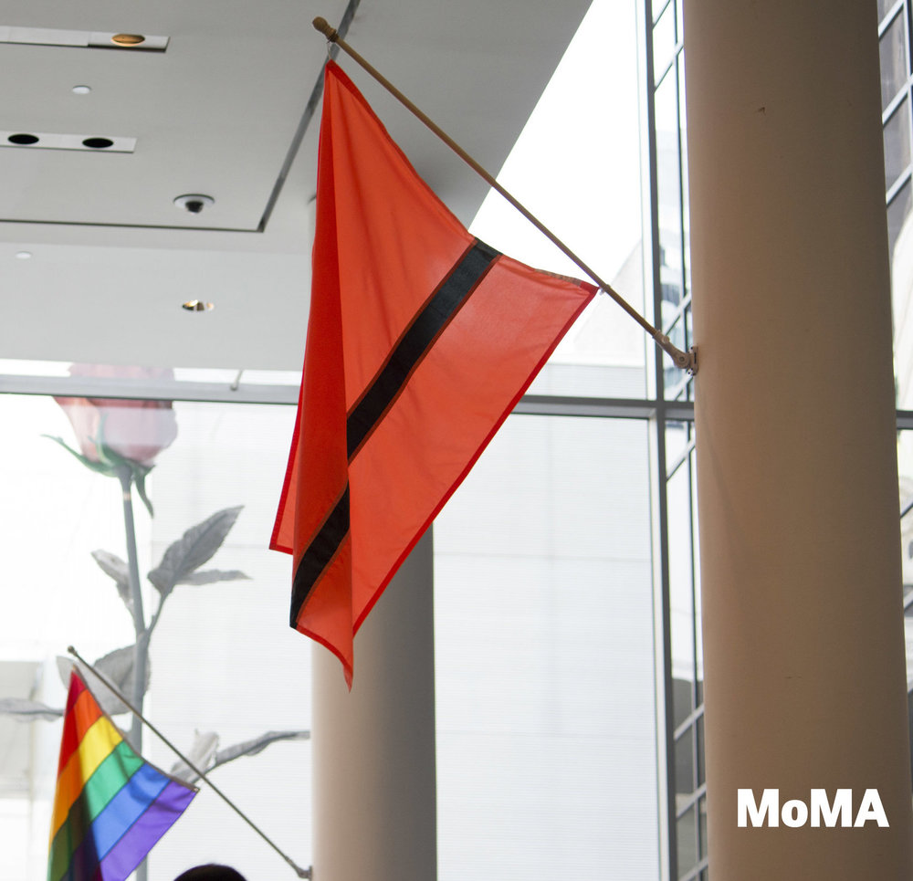 "MoMA Museum - Permanent collection Piece. ""People will start to recognize the flag with the discussion"" Sean Anderson, curator at MoMA."