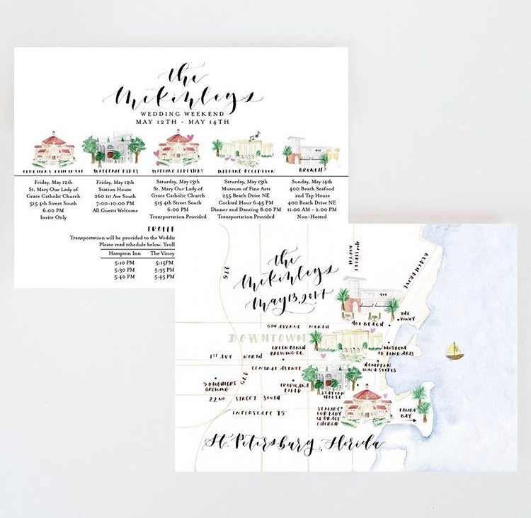 do tell stationery and designs watercolor maps