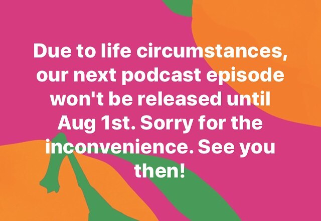 In case you were wondering what happened to this week's episode... • Tune in August 1st for our next episode on apology. 🎙 . . . #podcast #trulyequal #trulyequalpodcast #episode #nextepisode #delay #apology
