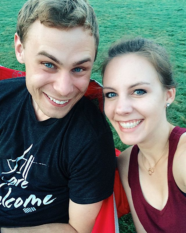 Our 3rd anniversary was on August 15th, so to celebrate we watched Casablanca at our local park! The movie was great, the night was beautiful, and our muddy buddies were delicious! 🎥 ❤️ . . . #movieinthepark #movie #casablanca #anniversary #threeyears #celebration #love #marriage