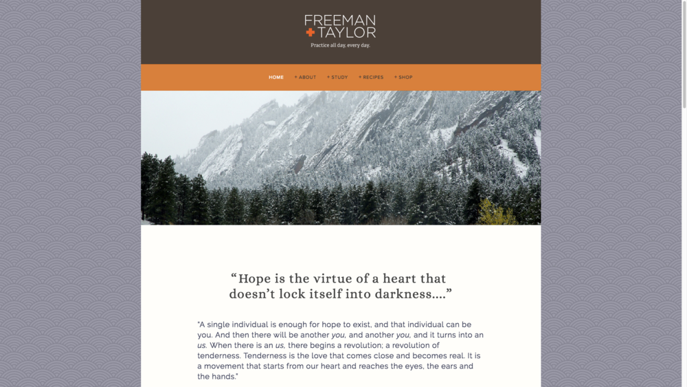 Official website of Richard Freeman and Taylor, highly respected, much beloved, rockstars of the yoga world.  Visit  www.richardfreemanyoga.com