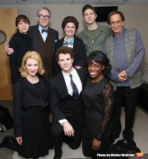 MRS. MILLER DOES HER THING  Photo: Walter McBride  Rebekah Brockman, Boyd Gaines, Debra Monk, Corey Mach, Will LeBow, Kaitlyn Davidson, Jacob Ben Widmar, and Kimberly Marable.