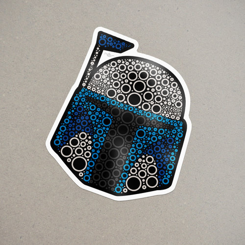 Jango fett dot sticker
