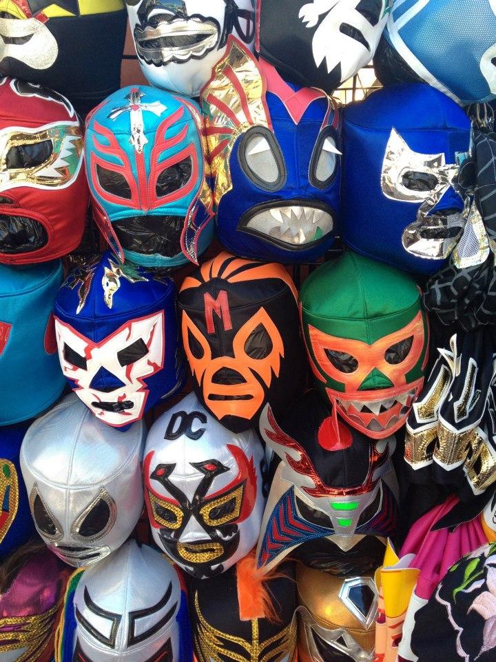 Lucho libre masks (photo by Steven Seighman)