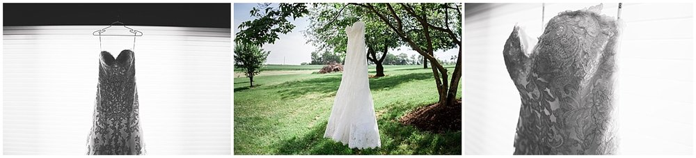 wedding dress black and white