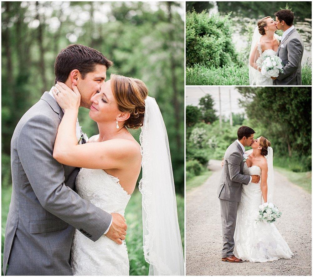 bride and groom at atrium