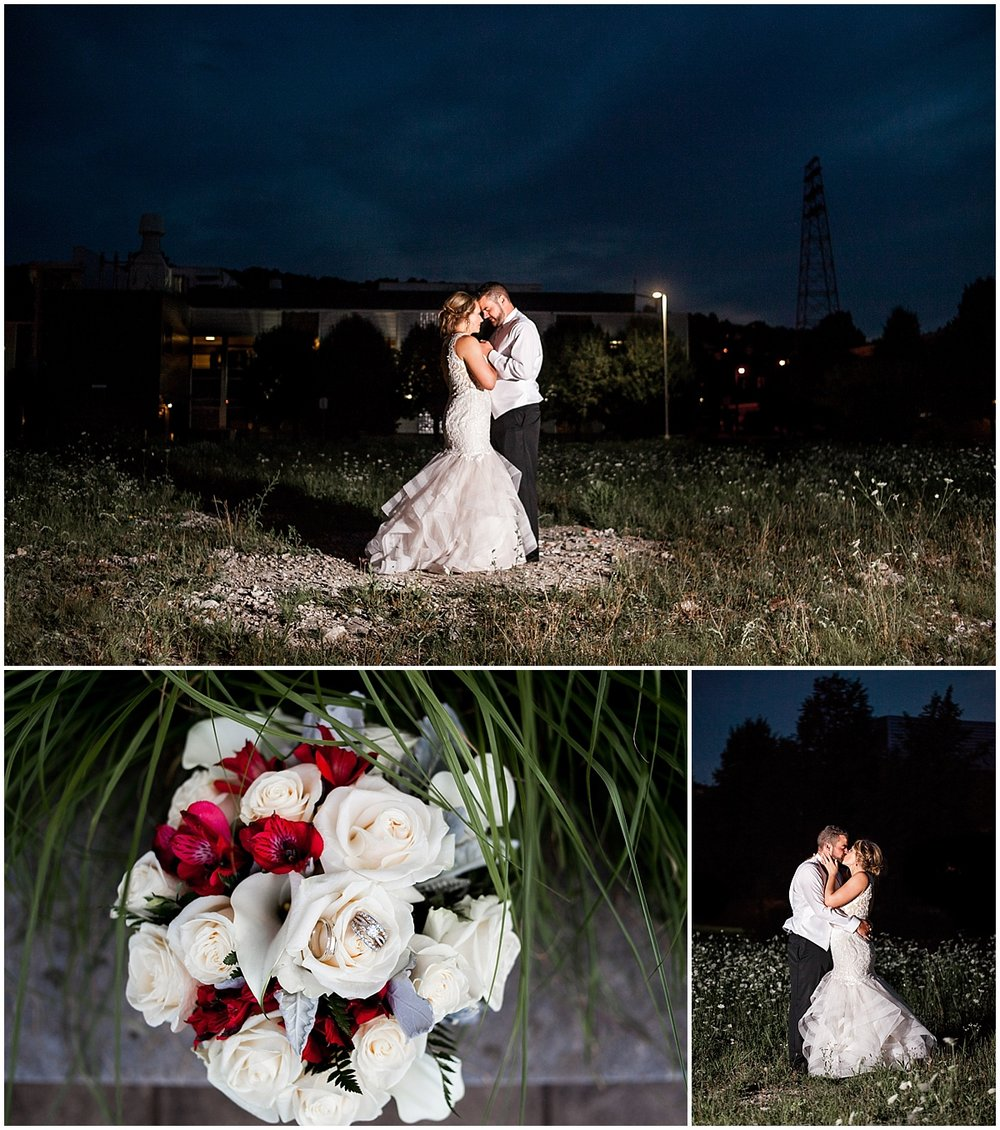 pittsburgh night bride and groom portrait